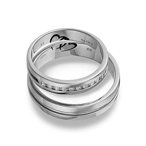 Commitment Palladium 950 1 10 Carat Diamond Ring Set H Samuel