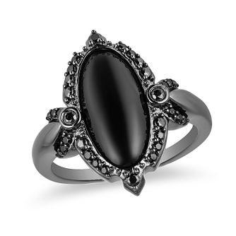 Enchanted Disney Fine Jewelry Diamond & Onyx Maleficent Ring - Product number 1102435