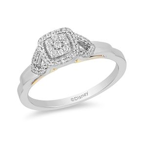 Enchanted Disney Fine Jewelry Two-Tone Diamond Jasmine Ring - Product number 1103008