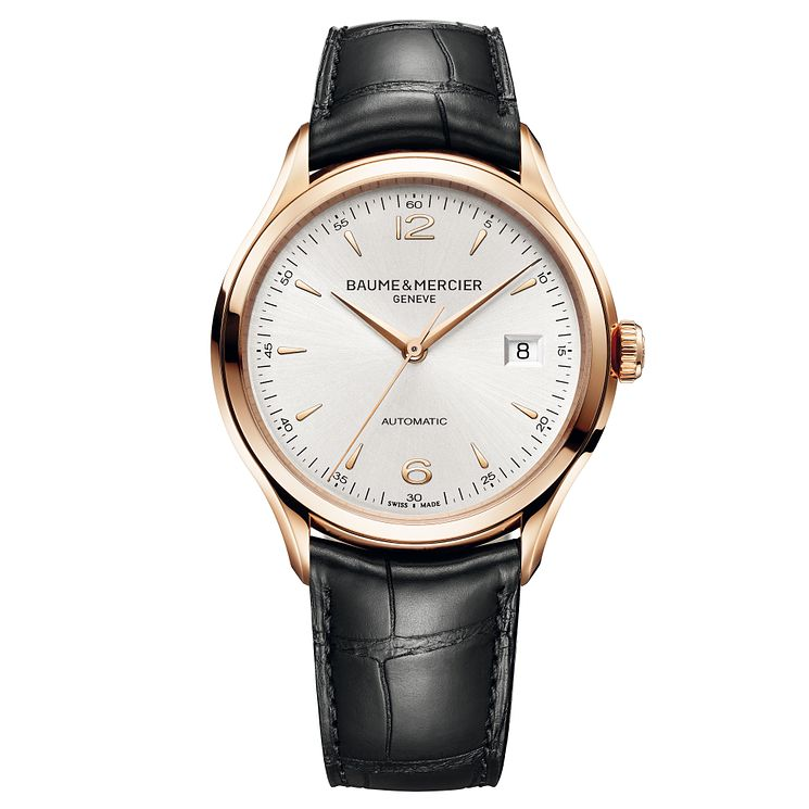 Baume & Mercier Clifton men's 18ct rose gold strap watch - Product number 1103482