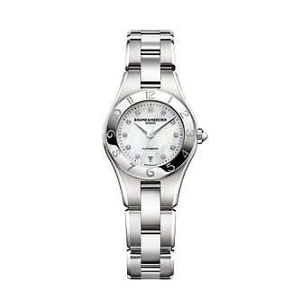 Baume & Mercier Linear ladies' diamond steel bracelet watch - Product number 1103504