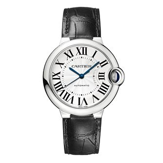 Cartier Ballon Bleu 36mm leather strap watch - Product number 1107461