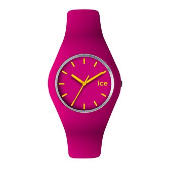 Ice-Watch Ladies' Pink & Yellow Silicone Strap Watch - Product number 1109715