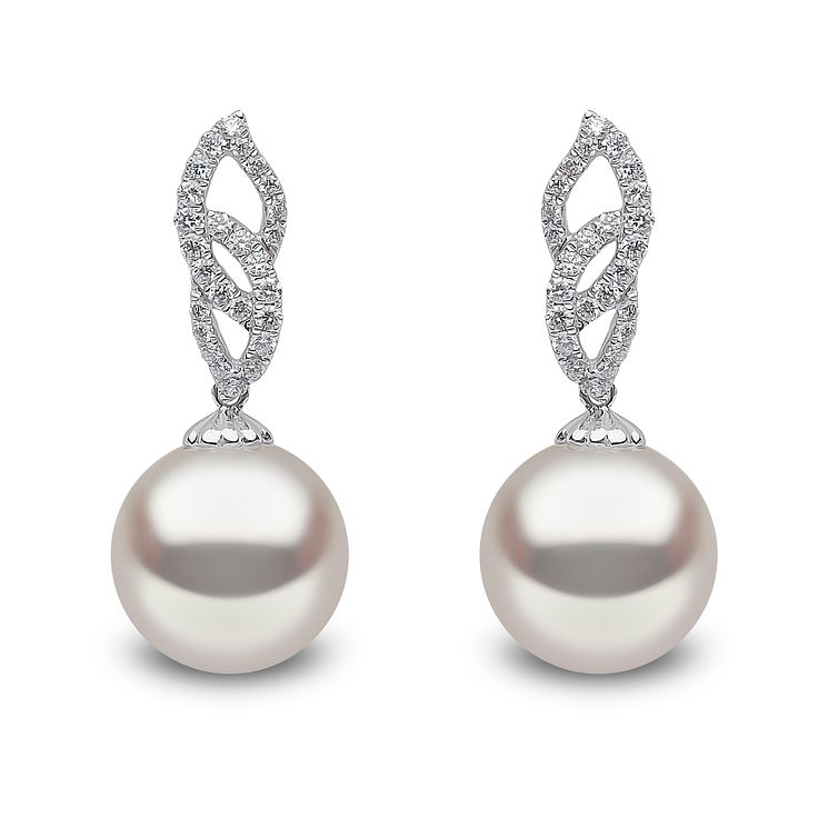 Yoko London 18ct white gold South Sea pearl diamond earrings - Product number 1113488