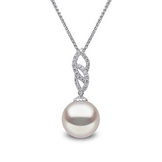 Yoko London 18ct white gold South Sea pearl diamond pendant - Product number 1113526