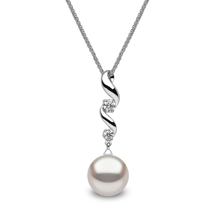 Yoko London 18ct white gold South Sea pearl diamond pendant - Product number 1113550