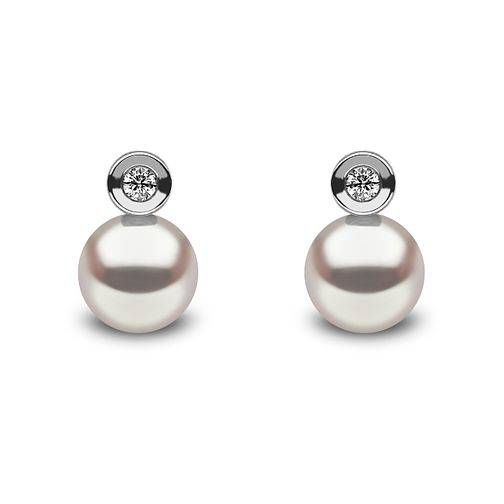Yoko London 18ct white gold Akoya pearl diamond earrings - Product number 1113631