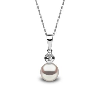 Yoko London 18ct white gold Akoya pearl diamond pendant - Product number 1113666