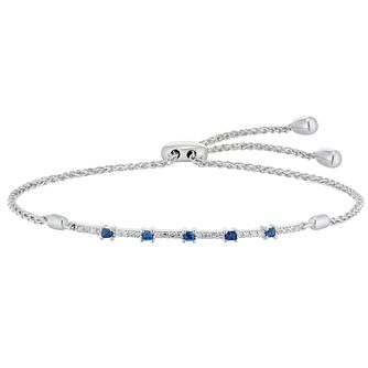 Vera Wang Silver, Sapphire & 0.14ct Diamond Bracelet - Product number 1121022