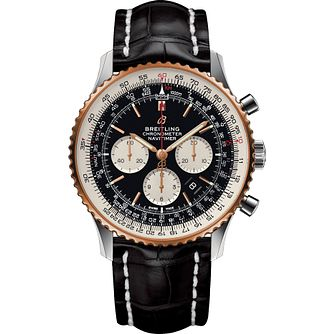 Breitling Navitimer 1 B01 Chronograph Black Strap Watch - Product number 1122533