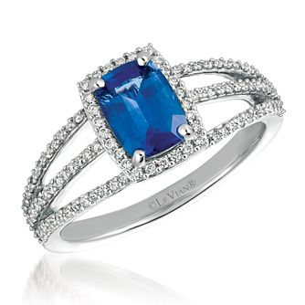 Le Vian 14ct White Gold Sapphire Diamond Ring - Product number 1124269