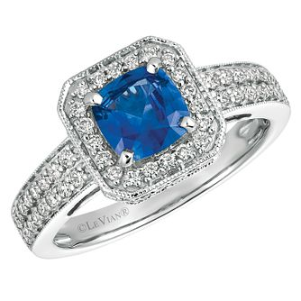 Le Vian 14ct White Gold Sapphire Diamond Ring - Product number 1124498