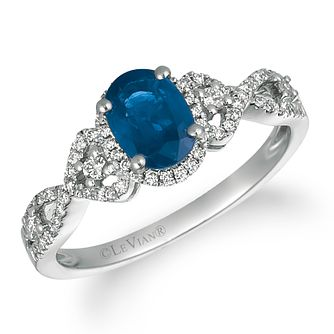 Le Vian 14ct White Gold Sapphire Diamond Ring - Product number 1124633