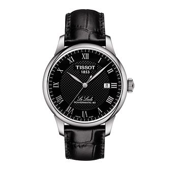 Tissot Men's Le Locle Black Leather Strap Watch - Product number 1125257