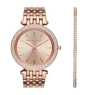 Michael Kors Darci Rose Gold Plated Bracelet Watch & Bangle - Product number 1128604