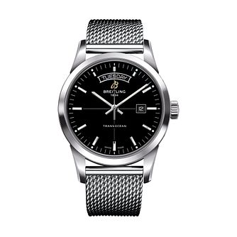 Breitling Transocean Day & Date Men's Black Bracelet Watch - Product number 1128906