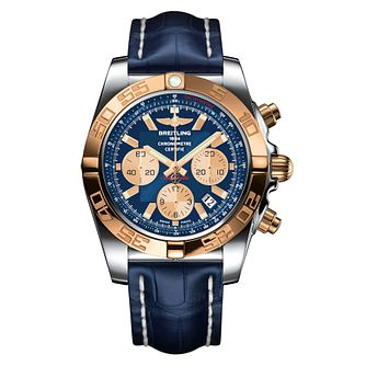 Breitling Men's Chronomat 44 Blue Strap Watch - Product number 1128930