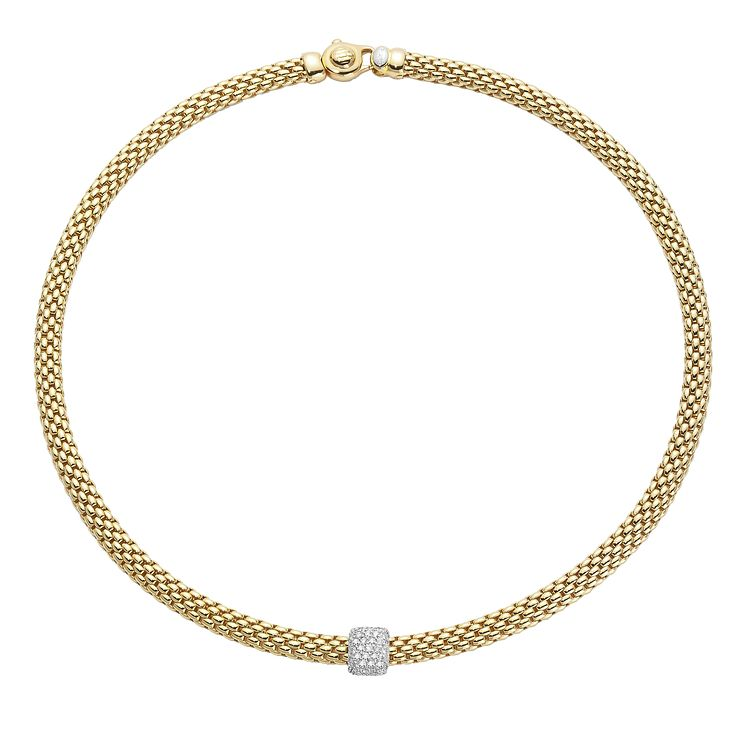 Fope Flex' It Vendome 18ct gold diamond necklace - Product number 1134426