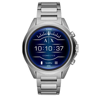 Armani Exchange Connected Men's Silver Tone Smartwatch - Product number 1138472