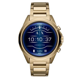 Armani Exchange Connected Men's Gold Tone Smartwatch - Product number 1138480