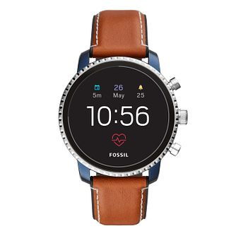 Fossil Q Explorist Gen 4 Digital Brown Leather Strap Watch - Product number 1138502
