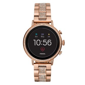 Fossil Q Explorist Gen 4 Digital Rose Tone Bracelet Watch - Product number 1138561