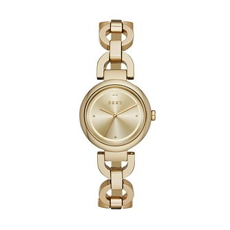 DKNY Eastside Ladies' Yellow Gold Plated Bracelet Watch - Product number 1138693