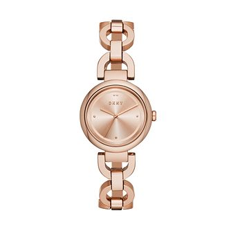 DKNY Eastside Ladies' Rose Gold Plated Bracelet Watch - Product number 1138707