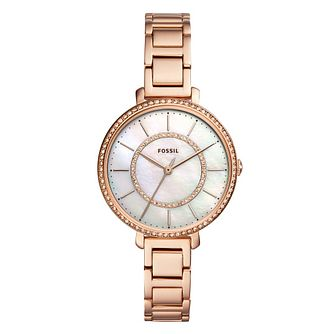 Fossil Jocelyn Ladies' Rose Gold Tone Bracelet Watch - Product number 1142186