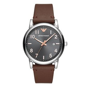 Emporio Armani Men's Brown Leather Strap Watch - Product number 1142283
