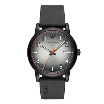 Emporio Armani Men's Black Rubber Strap Watch - Product number 1142291