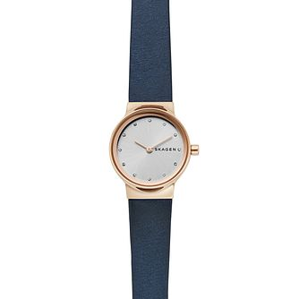 Skagen Freja Ladies' Blue Leather Strap Watch - Product number 1142372