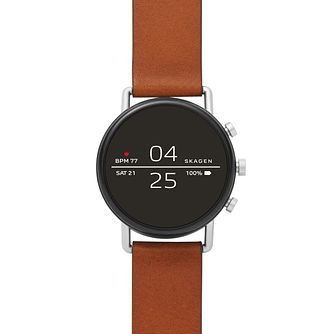 Skagen Connected Falster 2 Brown Strap Watch - Product number 1142453