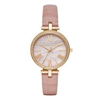 Michael Kors Maci Ladies' Blush Pink Leather Strap Watch - Product number 1142496