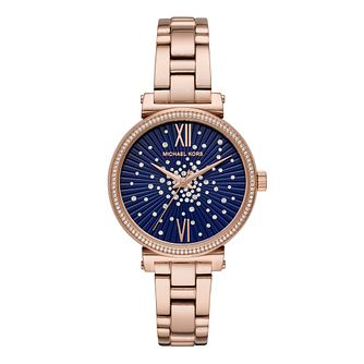 Michael Kors Sofie Ladies' Rose Gold Tone Bracelet Watch - Product number 1142534