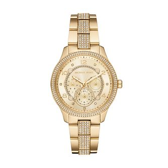 Michael Kors Runway Yellow Gold Plated Bracelet Watch - Product number 1142615