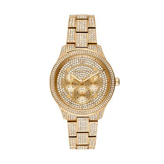 Michael Kors Runway Glitz Yellow Gold Plated Bracelet Watch - Product number 1142690