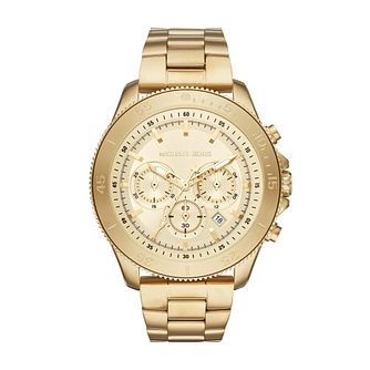 Michael Kors Theroux Men's Yellow Gold Plated Bracelet Watch - Product number 1142798