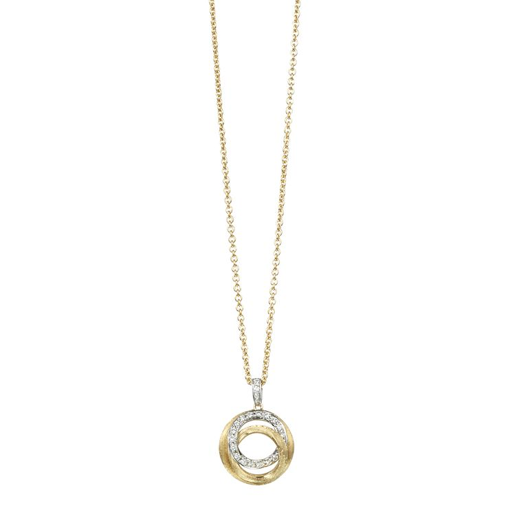 Marco Bicego Jaipur 18ct gold 16 point diamond link pendant - Product number 1142887
