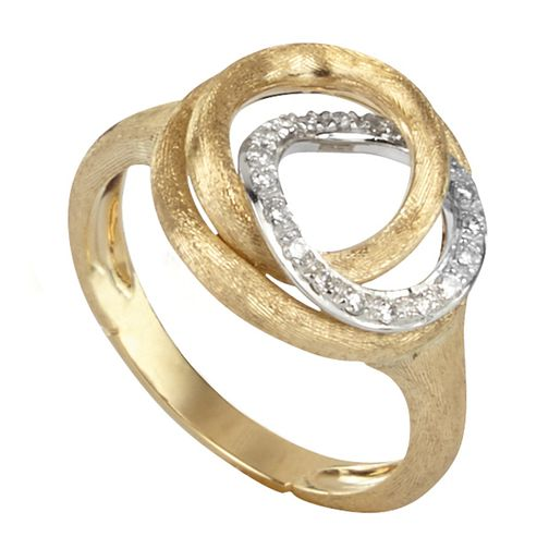 Marco Bicego Jaipur 18ct gold 14 point diamond link ring - Product number 1143077