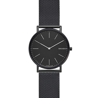 Skagen Signatur Men's Stainless Steel Mesh Bracelet Watch - Product number 1146327