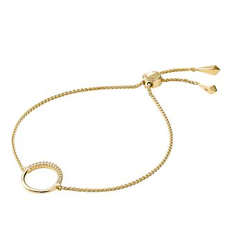 Michael Kors Gold Plated Cubic Zirconia Circle Bracelet - Product number 1150200