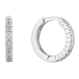 Sterling Silver 0.17ct Diamond Hoop Earrings - Product number 1150596
