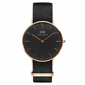 Daniel Wellington Classic Cornwall Black Dial Watch - Product number 1181602
