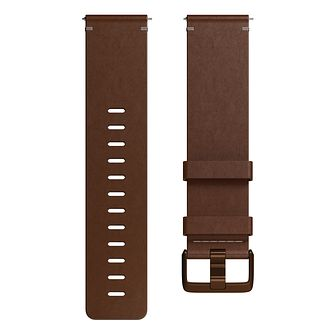 Fitbit Versa Leather Band Cognac Small - Product number 1185640