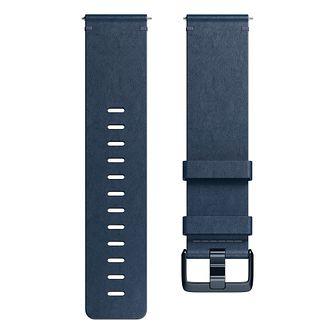 Fitbit Versa Leather Band Blue Large - Product number 1185675