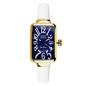 Glam Rock Miami Beach Ladies' White Silicone Strap Watch - Product number 1210076