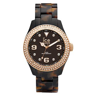 Ice-Watch Ladies' Stone Set  Tortoiseshell Bracelet Watch - Product number 1220659