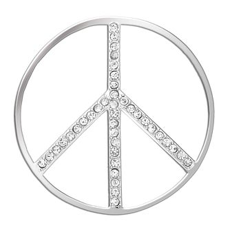 Lucet Mundi silver tone peace crystal coin - small - Product number 1225545
