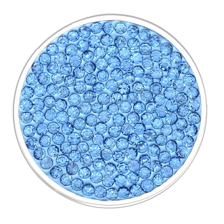 Lucet Mundi light blue crystal coin - small - Product number 1225715